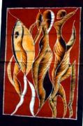 artisanat dart abstrait afrique : LA CONVOITISE