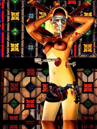 Crucifiée au vitrail