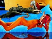 art numerique scene de genre nu : Chimère