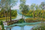 tableau paysages ilot indre paysage riviere : Ilôts