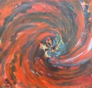 tableau fleurs pavot opium univers spirale : pavot univers