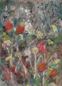 tulipes, cinéraires et ombelles