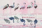 tableau marine flamants rose salins defile de mode : défilé de mode aux Salins deHyères