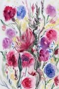 tableau fleurs fleurs prairies hyeres : fleurs de ma prairie