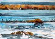 tableau marine salins hyeres salins de hyeres hiver : couleurs d'hiver aux Salins de Hyères