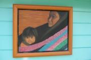 tableau personnages maman indienne tribu bebe : TRIBU WARAOS