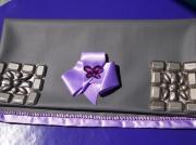 art textile mode autres noeud en satin perles similmi cuir pochette : POCHETTE EN SIMILI CUIR