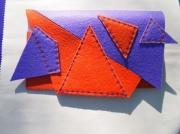 art textile mode autres pochette en feutrine coutures etoilees : POCHETTE EN FEUTRINE