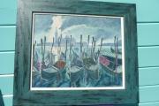 tableau venise italie gondoles : VENISE
