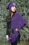 art textile mode alpaga chale bonnet : CHALE ET BONNET EN LAINE