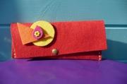 art textile mode autres pochette feutrine : POCHETTE EN FEUTRINE