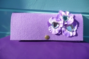 art textile mode autres pohette en feutrine coeur aint valentin fleur : POCHETTE EN FEUTRINE