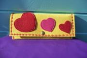 art textile mode autres pochette en feutrine coeur saint valentin : POCHETTE EN FEUTRINE