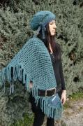 art textile mode chale bonnet alpaga tricot : BONNET ET CHALE EN LAINE