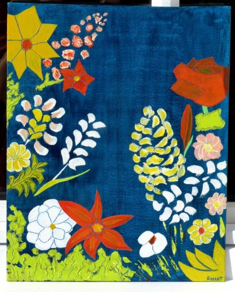 TABLEAU PEINTURE fleur printemps été soleil Fleurs  - LE CHANT DES FLEURS