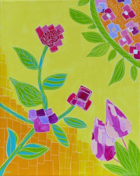TABLEAU PEINTURE FLEUR SOLEIL été nature Fleurs  - NATURALIA