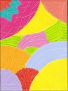 tableau abstrait couleur printemps vie joie : le printemps