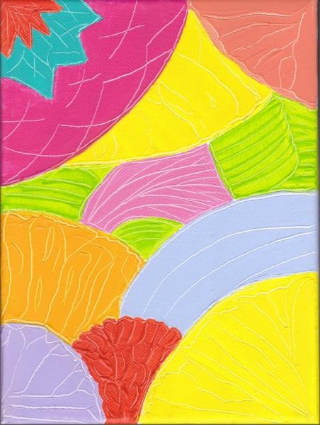 TABLEAU PEINTURE couleur printemps vie joie Abstrait Acrylique  - le printemps