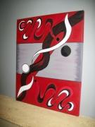 tableau abstrait : rouge yang