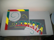 tableau abstrait : jamaiqua