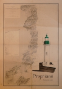 dessin marine carte marine phare corse : Propriano