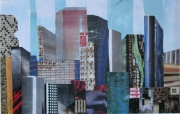 tableau architecture architecture new york collage art papier : NEW YORK SIX