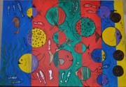 tableau animaux poissons colores : les poissons