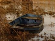 photo paysages barque bleue en auto : la barque bleue
