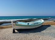 photo marine barque chypre barque bleue : barque Chypre