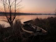 photo paysages barque rose loire : rose est la Loire