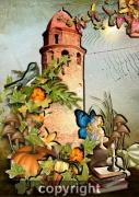 art numerique autres collioure eglise sirene : la sirène et le clocher englouti