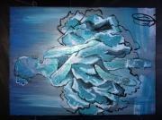 tableau personnages aa labrini danseuse etoile peinture danseuse et toile bleue : Meduse