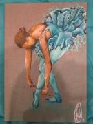tableau personnages danseuse etoile aa labrini peinture de danseuse danseuse : cendrillon