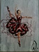 tableau personnages aalabrini danseuse etoile toile danseuse class peinture danseuse cl : ''Ésa''