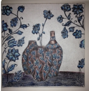 tableau fleurs fleures dessin : dessin sur toile
