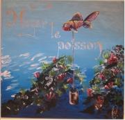 tableau marine noyer le poisson poisson peinture de poisson expression francaise : noyer le poisson