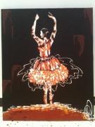 tableau personnages aalabrini danseuse etoile toile danseuse class peinture danseuse cl : ''Lydie safarie''