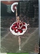 tableau personnages aalabrini danseuse etoile toile danseuse class peinture danseuse cl : ''Rose éternelle''