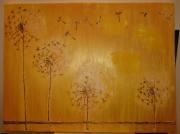 tableau fleurs pissenlit un chanp de pissenli peinture de pissenli dessin de pissenlit : envole pour une nouvelle vie