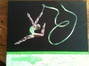 tableau scene de genre aalabrini danseuse etoile toile danseuse class peinture danseuse cl : ''CONSTELLATION ''
