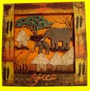 deco design autres paysage africain : cadre Africain