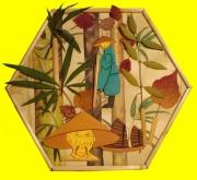 deco design autres asiatique vegetal objet bambou : Cadre Asiatique