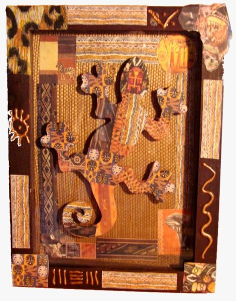 DéCO, DESIGN salamande africain  - Cadre Africain