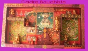deco design autres boudhisme bois violet cadre : Cadre Boudhiste