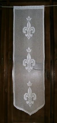Rideau panneau de porte fleurs de lys royal