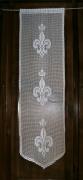 art textile mode fleurs rideau au crochet fa fleurs de lys couron panneau de porte creation art textile : Rideau panneau de porte fleurs de lys royal