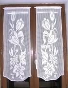 art textile mode fleurs rideaux crochet fait rideaux brise vue fl rideaux au crochet s textile ameublement : Rideaux fleurs et tulipes crochet fait main.