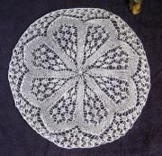 art textile mode autres napperon dentelle tr tricot d art napperon art textile dentelle aux aiguill : Napperon dentelle de tricot.