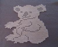 Koala napperon beige au crochet