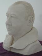 sculpture personnages buste terre cuite bust vise : buste sur commande